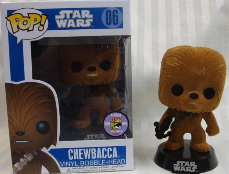 Flocked Chewbacca POP