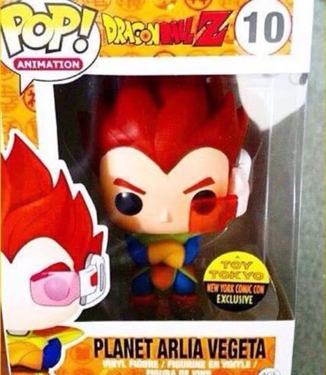 Planet Arlia Vegeta funko pop